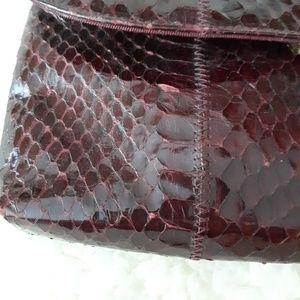 Bags - Vintage Geniune Snake skin bag